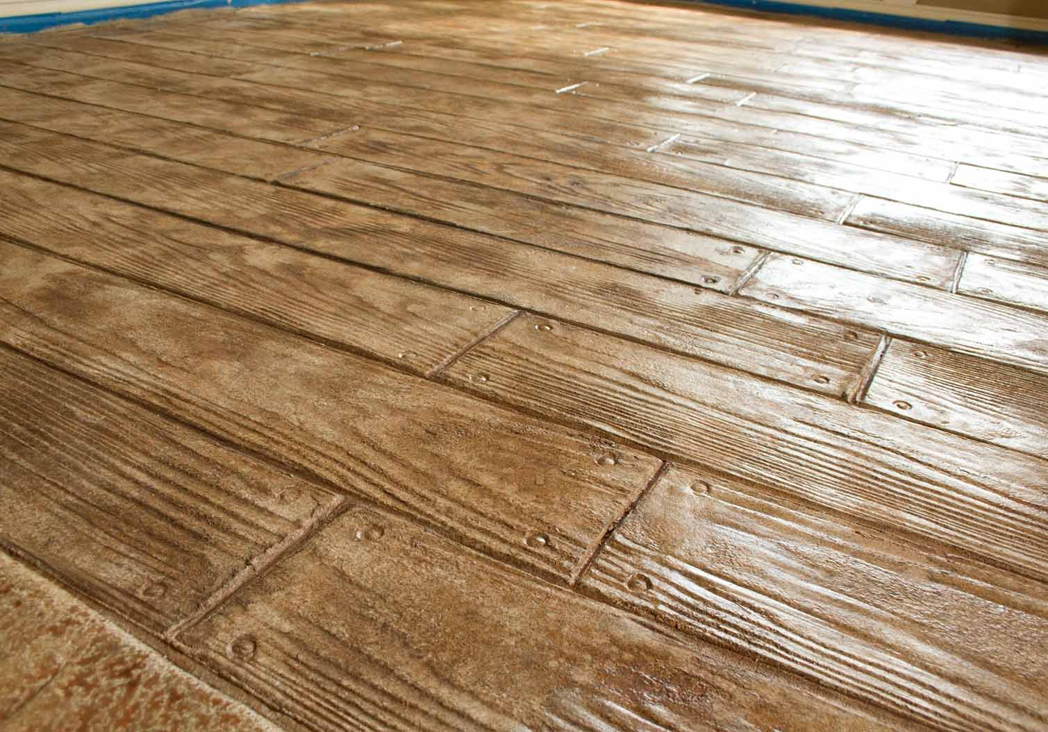 Kitchen Tile Hardwood Floor Stamped Concrete